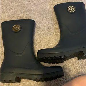 Tory Burch Shoes - Tory Burch Navy Rain boots